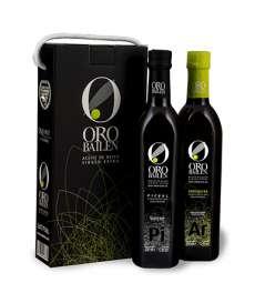 Oliwa z pierwszego tłoczenia Oro Bailen.Estuche 2 botellas 750 ml.