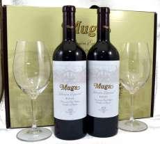 Wino czerwone 2 Muga  Selección Especial con 2 copas Riedel