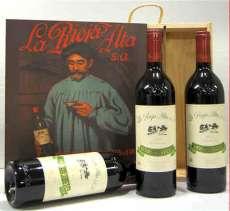 Wino czerwone 3 Reserva 904  en caja de madera